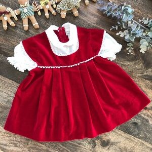 Vintage Red Dress by Youngland, Size 2T